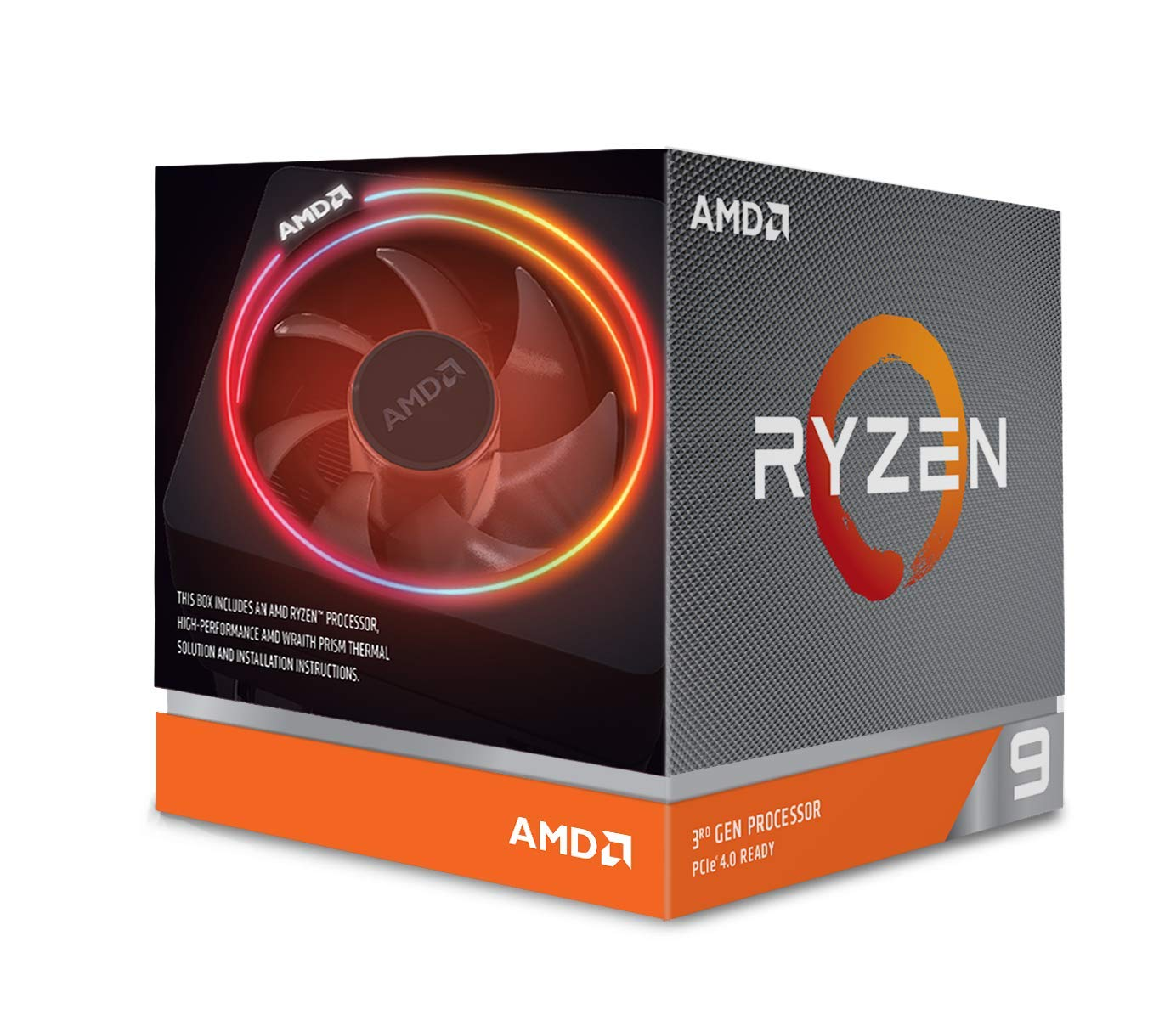 AMD Ryzen 9 3900X 12-Core Processor with Wraith Prism LED Cooler + Borderlands 3 + The Outer Worlds